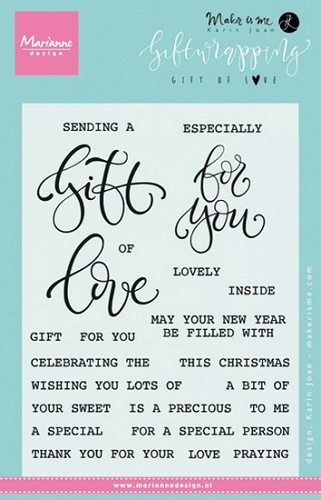 Marianne Design - Clear Stamp - Gift of Love