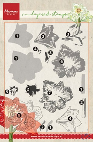 Marianne Design - Clear Stamp - Tiny`s Amaryllis (Layering)