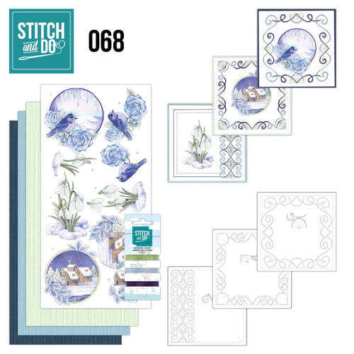 Card Deco - Stitch and Do - Borduurset 68 - Winter Classics