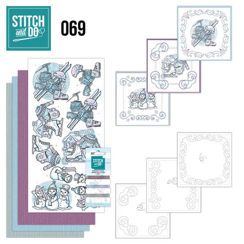 Card Deco - Stitch and Do - Borduurset 69  - Winter