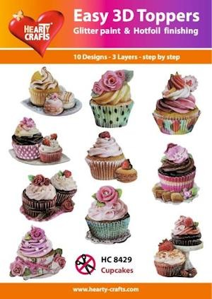 Hearty Crafts - Easy 3D Toppers - Cupcakes