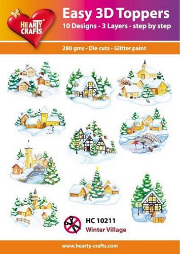 Hearty Crafts - Easy 3D Toppers - Winter Village