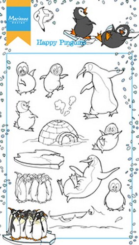 Marianne Design - Clearstamp - Hettys Happy Pinguins