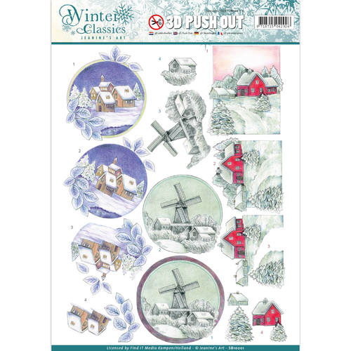 Jeanines Art - Push Out - Winter Classics - Christmas landscapes