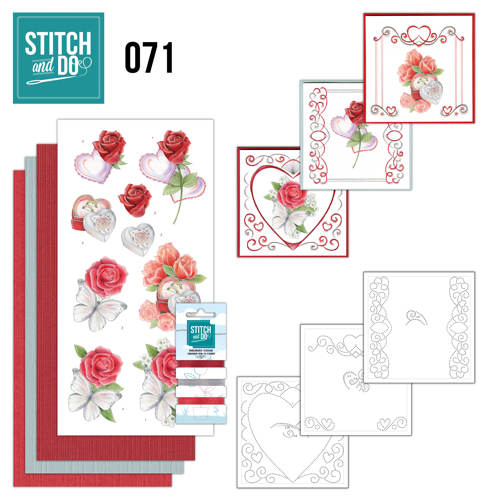 Card Deco - Stitch and Do - Borduurset 71 - Wedding