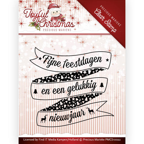 Precious Marieke - Clearstamp - Joyful Christmas tekst