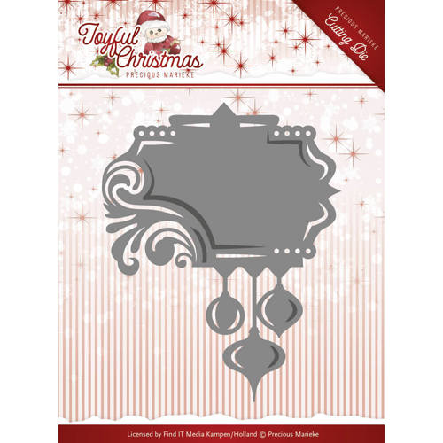 Precious Marieke - Die - Joyful Christmas - Label ornament