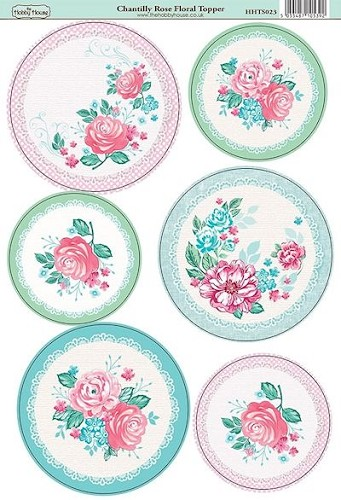 The Hobby House - Floral Topper - Stansvel - Chantilly Rose