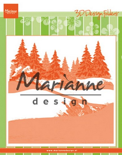Marianne Design - Embossing - Design Folder Extra - Winterwood