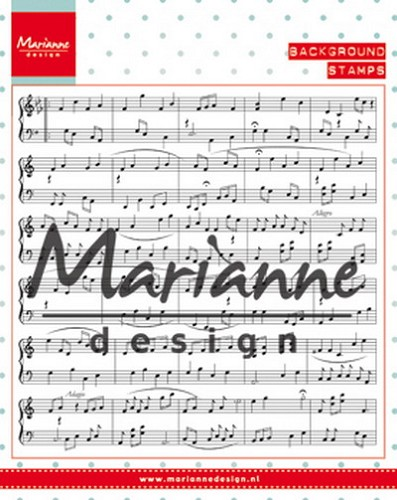 Marianne Design - Clearstamp - Music Notes