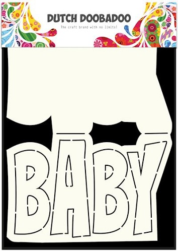 Dutch Doobadoo - Dutch Card Art - Text Baby