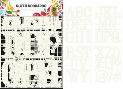 Dutch Doobadoo - Dutch Stencil Art - A-Z