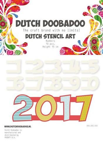 Dutch Doobadoo - Dutch Stencil Art - Numbers