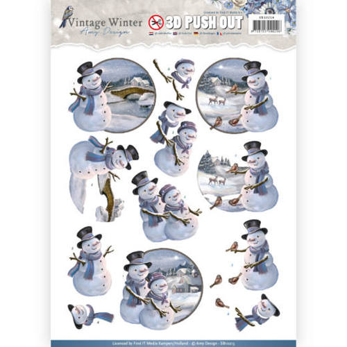 Amy Design - Pushout - Vintage Winter - Snowman