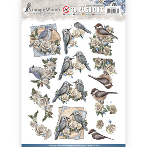Amy Design - Pushout - Vintage Winter - Winter Birds