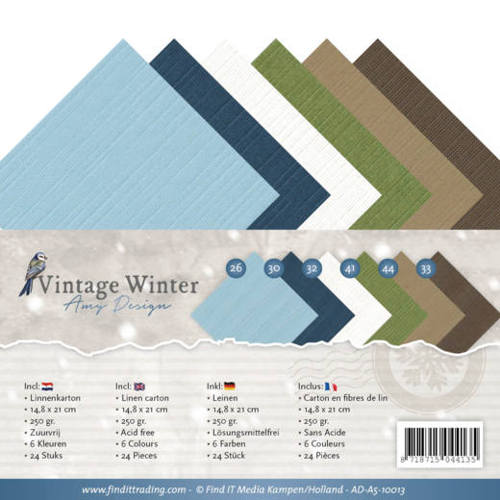 Amy Design - Linnenpakket - A5 - Vintage Winter