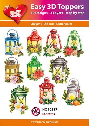 Hearty Crafts - Easy 3D Toppers - Lanterns