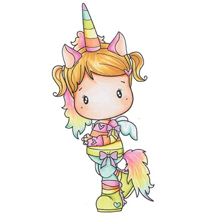 C.C. Designs - Clearstamp - Swiss Pixie - Unicorn Lucy