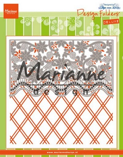 Marianne Design - Design Folders de Luxe - Anja`s flower border