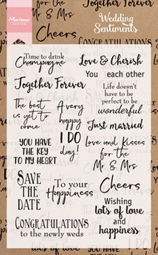 Marianne Design - Clearstamp - Wedding Sentiments