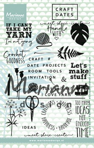 Marianne Design - Clearstamp - Craft dates 1