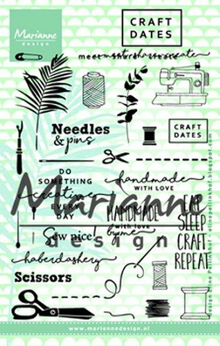 Marianne Design - Clearstamp - Craft dates 2