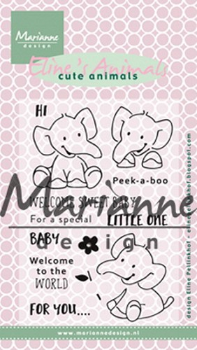 Marianne Design - Clearstamp - Eline`s Elephant