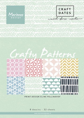 Marianne Design - Pretty Papers Bloc - Crafty Patterns