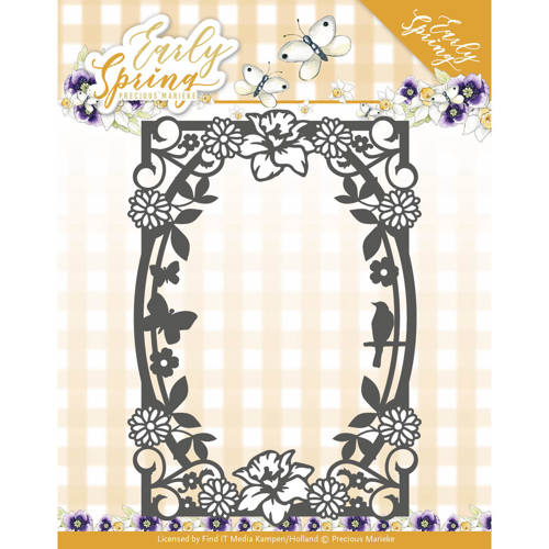 Precious Marieke - Die - Early Spring - Spring Flowers Rectangle Frame
