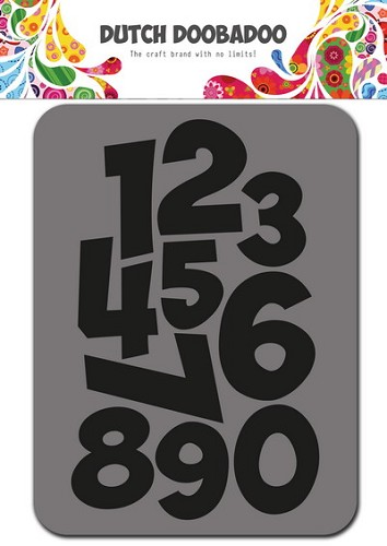 Dutch Doobadoo - Foam -Stamps - Numbers 75x96 mm