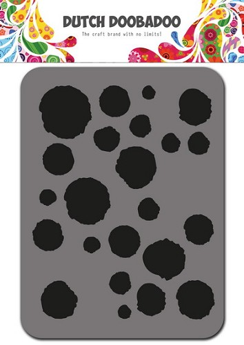 Dutch Doobadoo - Foam -Stamps - Dots 75x96 mm