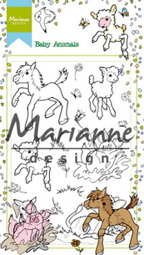 Marianne Design - Clearstamp - Hetty`s baby animals