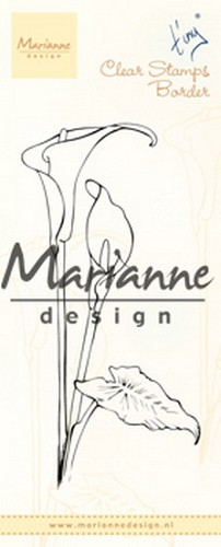 Marianne Design - Clearstamp - Tiny`s border callas