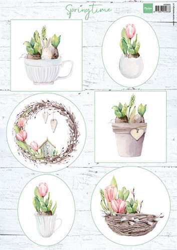 Marianne Design - Knipvel - Tulips & Willow Cats
