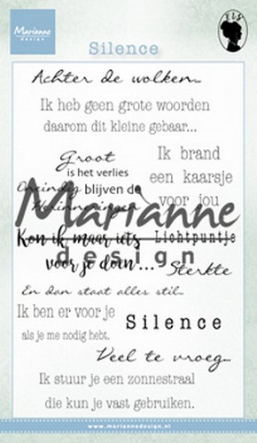 Marianne Design - Clearstamp - Silence NL