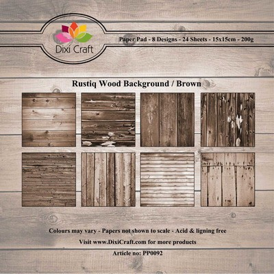 Dixi Craft - Paperpack - Rustiq Wood Background - Brown