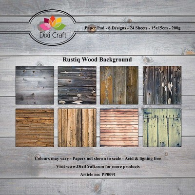 Dixi Craft - Paperpack - Rustiq Wood Background