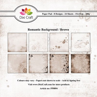Dixi Craft - Paperpack - Romantic Background - Brown