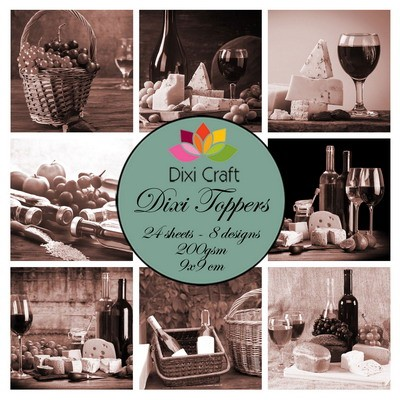 Dixi Craft - Toppers - Wine - Sepia
