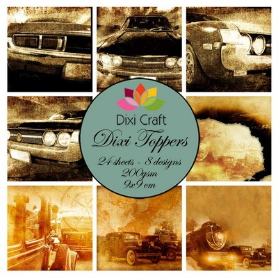 Dixi Craft - Toppers - Retro Cars