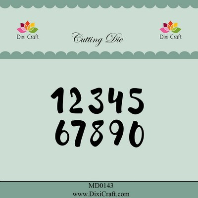 Dixi Craft - Die - Brush Numbers Small