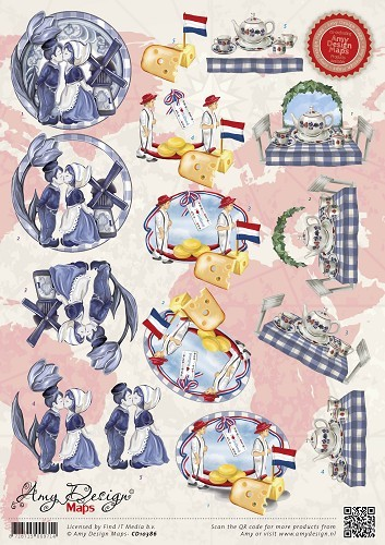 Amy Design - Knipvel - Maps - Holland