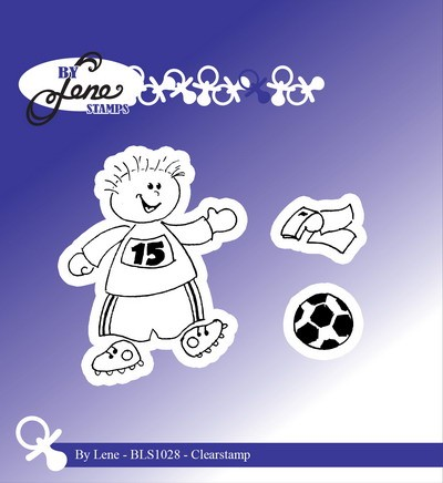 By Lene - Clearstamp - Boy with footbal