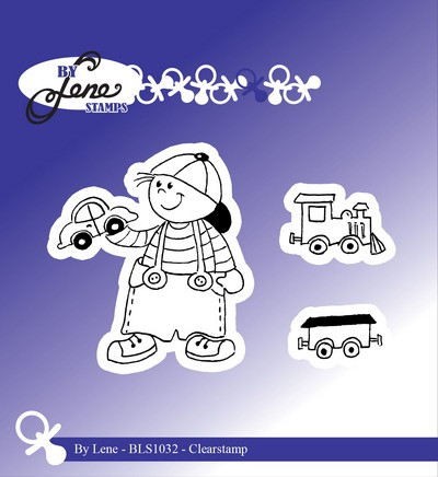 By Lene - Clearstamp - Boy with train