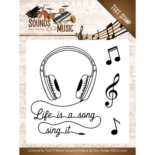 Amy Design - Clear Stamp - Sounds of music