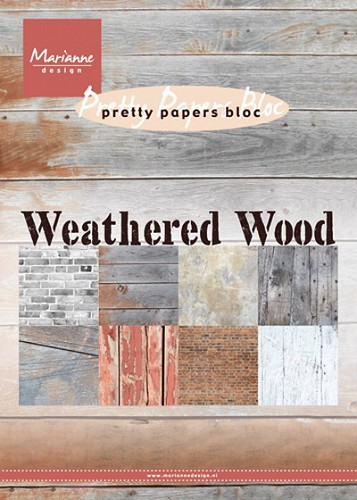 Marianne Design - Pretty Paper Bloc - Weathered Wood