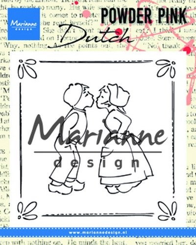 Marianne Design - Clearstamp - Powder Pink - Kissing Couple