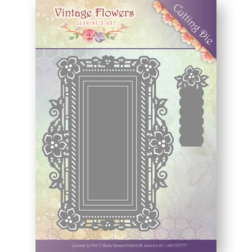 Jeanines Art - Die - Vintage Flowers - Floral Rectangle