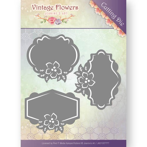 Jeanines Art - Die - Vintage Flowers - Floral Labels