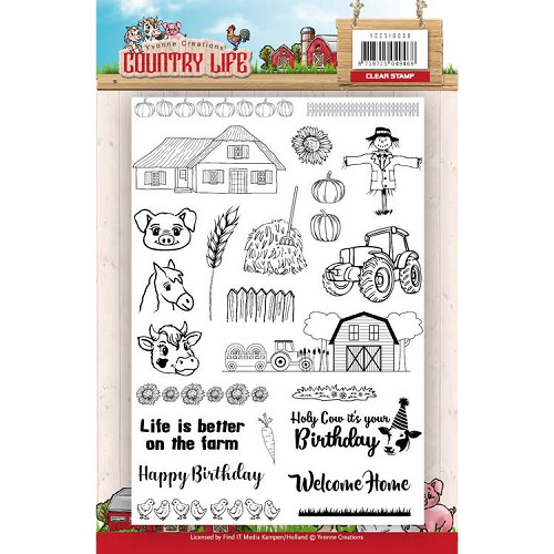 Yvonne Creations - Clearstamp - Country Life